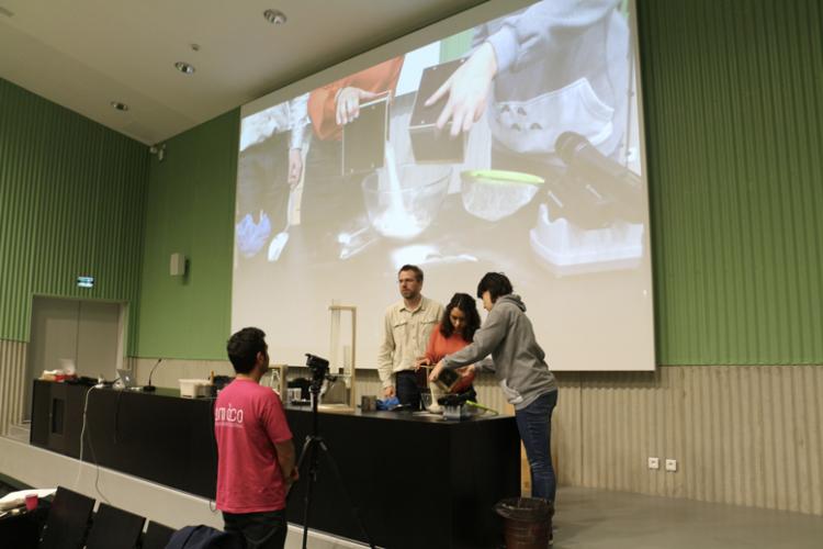 Module enseignement dédié aux matières à construire à 100 étudiants de l'ENSACF © amàco