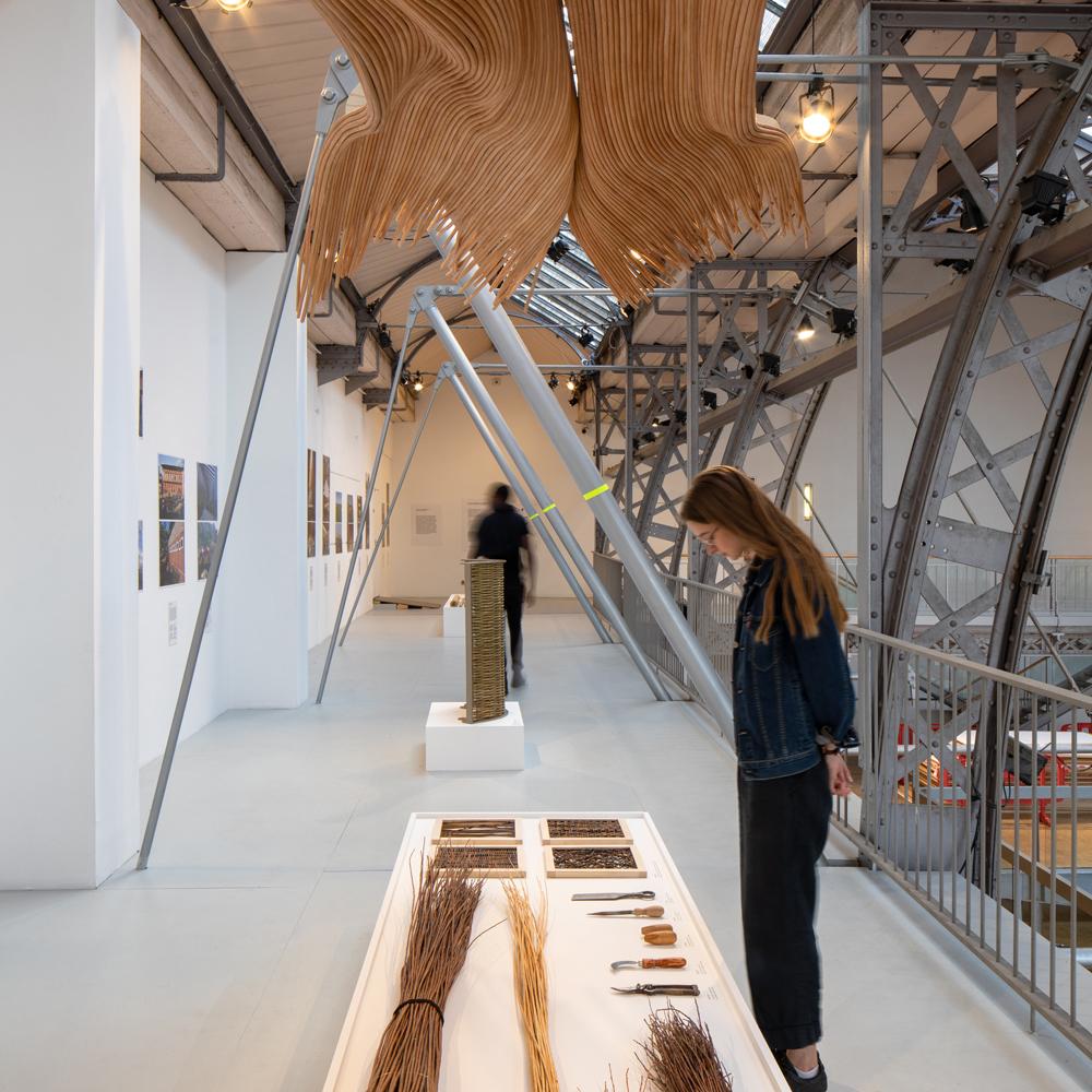 Exposition FIBRA bâtir en fibres végétales - crédit Pierre L'Excellent - amàco