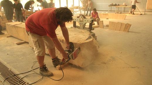 Formation professionnelle Construire en pierre aujourd'hui propose de revisiter les techniques de construction pour davantage imposer la pierre dans l'architecture contemporaine – crédit : amàco