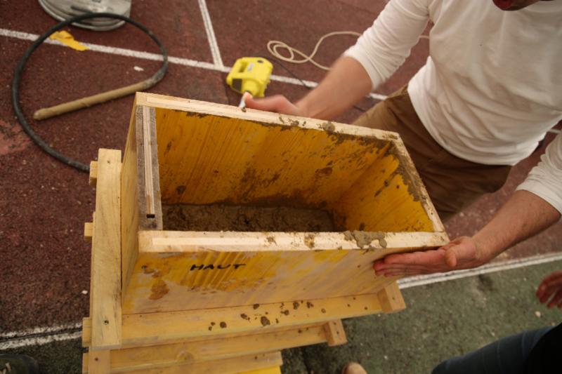 Deuxième édition de la formation professionnelle Construire en terre coulée à Chatenay-Malabry – crédits : amàco