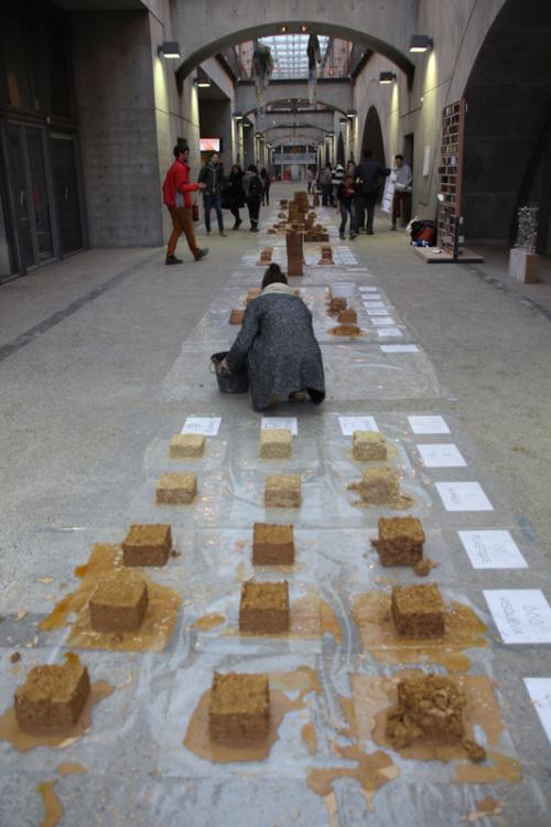 Module enseignement pour apprendre à transformer la terre crue en matériaux pour 110 étudiants de l'ENSA de Lyon © amàco