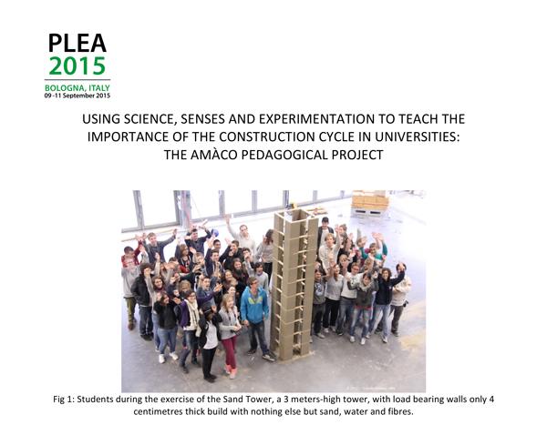 Article sur l'utilisation de la science, les sens et l'expérimentation pour enseigner l'importance du cycle de construction dans les universités