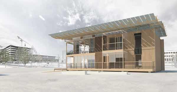 Terra Nostra, prototype d'habitat en terre crue © ENSAG/ENSAL/GA