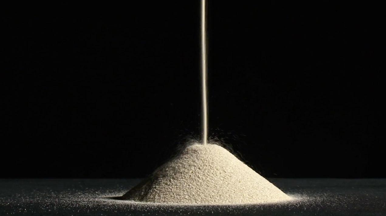 Des grains qui frottent