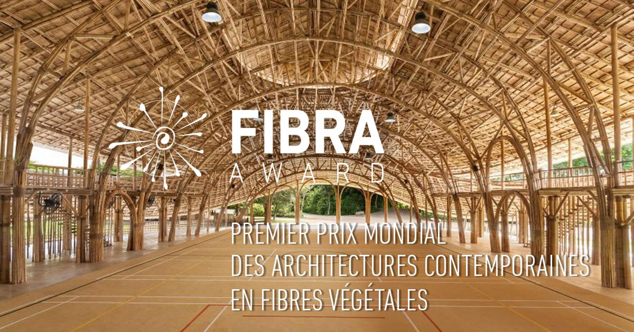 FIBRA Award, 1er prix mondial des architectures contemporaines en fibres végétales